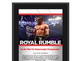 Neville Royal Rumble 2017 10 x 13 Commemorative Photo Plaque