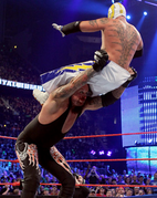 Undertaker. Image throwing Mysterio