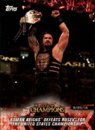 2018 WWE Road to WrestleMania Trading Cards (Topps) Roman Reigns 3