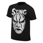 Sting Black & White Face Paint T-Shirt