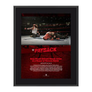 Bray Wyatt Payback 2017 10 x 13 Commemorative Photo Plaque