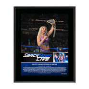 Charlotte Flair Makes History 10 x 13 Commemorative Photo Plaque