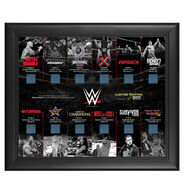 Framed 2014 Pay-Per-View Ring Canvas Commemorative Plaque