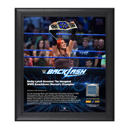 Becky Lynch Backlash 2016 15 x 17 Framed Plaque w Ring Canvas
