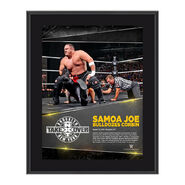 Samoa Joe NXT TakeOver Brooklyn 10.5 x 13 Photo Collage Plaque