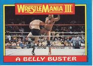 1987 WWF Wrestling Cards (Topps) A Belly Buster 49