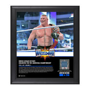 Brock Lesnar WrestleMania 33 15 x 17 Framed Plaque w Ring Canvas