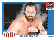 2008 WWE Heritage IV Trading Cards (Topps) Mike Knox 36