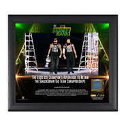 The Usos Money in the Bank 2017 15 X 17 Framed Plaque w Ring Canvas