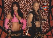 2004 WWE Divas 2005 (Fleer) Victoria & Jazz 65
