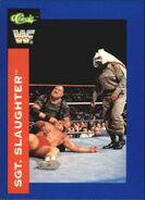 1991 WWF Superstars Cards Sgt. Slaughter 90