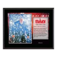 Goldberg Return to RAW Commemorative 10 x 13 Photo Plaque