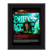 Triple H WrestleMania 35 10 x 13 Commemorative Plaque