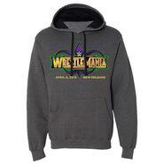 WrestleMania 34 Grey Pullover Logo Hoodie Sweatshirt
