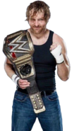Dean ambrose wwe world heavyweight champion by nibble t-da71ayv