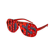 Sasha Banks Legit Boss Red Studded Sunglasses