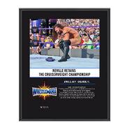 Neville WrestleMania 33 10 X 13 Commemorative Photo Plaque