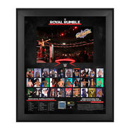 WWE Men's Royal Rumble 2018 20 X 24 Framed Plaque w Ring Canvas