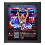 Carmella BackLash 2018 15 x 17 Framed Plaque w Ring Canvas