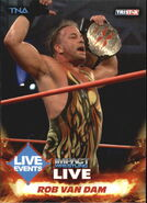 2013 TNA Impact Wrestling Live Trading Cards (Tristar) Rob Van Dam 49
