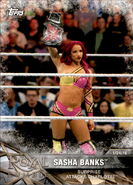 2017 WWE Road to WrestleMania Trading Cards (Topps) Sasha Banks 11