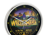 "WrestleMania 34 12"" Chrome Wall Clock"