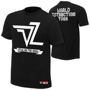 Dolph Ziggler World DZtruction Tour Youth Authentic T-Shirt