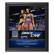 IIconic Duo SmackDown Live New Orleans 15 x 17 Framed Plaque w Ring Canvas
