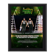 The Usos Money in the Bank 2017 10 x 13 Commemorative Photo Plaque