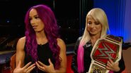 Sasha Banks and Alexa Bliss (WWE Straight To The Source) 7