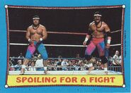 1987 WWF Wrestling Cards (Topps) Spoiling For A Fight 28