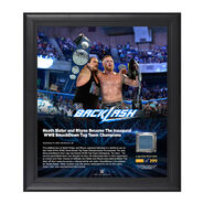 Heath Slater and Rhyno Backlash 2016 15 x 17 Framed Plaque w Ring Canvas