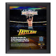 AJ Styles FastLane 2018 15 x 17 Framed Plaque w Ring Canvas