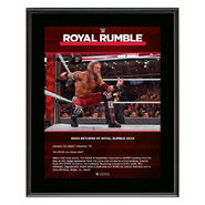 Edge Returns Royal Rumble 2020 10x13 Commemorative Plaque