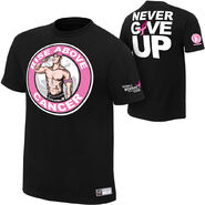 John Cena Rise Above Cancer Black T-Shirt