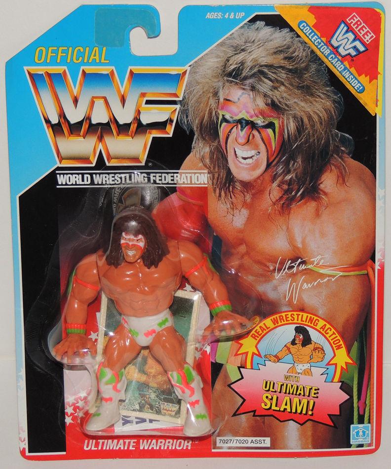 WWF Hasbro Ultimate Warrior Purple Figure