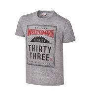 WrestleMania 33 Junk Food Steel Grey T-Shirt