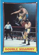 1987 WWF Wrestling Cards (Topps) Double Whammy 27
