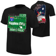 Brock Lesnar Suplex City North Pole Holiday T-Shirt