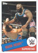 2015 WWE Heritage Wrestling Cards (Topps) Mark Henry 79