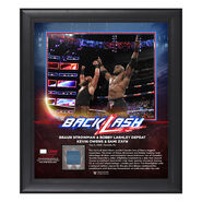 Braun Strowman & Bobby Lashley BackLash 2018 15 x 17 Framed Plaque w Ring Canvas