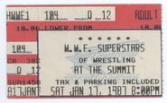 1-17-87 WWF Superstars of Wrestling Ticket Stub