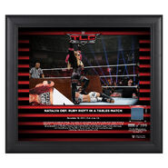 Natalya TLC 2018 15 x 17 Framed Plaque w Ring Canvas