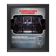 Alexa Bliss Elimination Chamber 2018 15 X 17 Framed Plaque w Ring Canvas