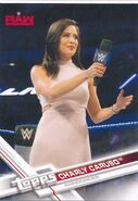 2017 WWE Wrestling Cards (Topps) Charly Caruso 12