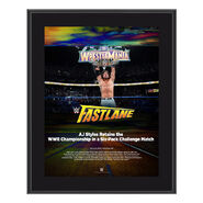AJ Styles FastLane 2018 10 x 13 Photo Plaque