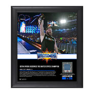 Kevin Owens WrestleMania 33 15 x 17 Framed Plaque w Ring Canvas