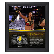 Shayna Baszler NXT TakeOver New Orleans 15 x 17 Framed Plaque