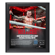 Randy Orton Hell in a Cell 2018 15 x 17 Framed Plaque w Ring Canvas