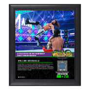 AJ Styles WrestleMania 34 15 x 17 Framed Plaque w Ring Canvas